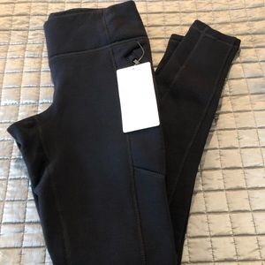 NWT athletia polertech black leggings size xs